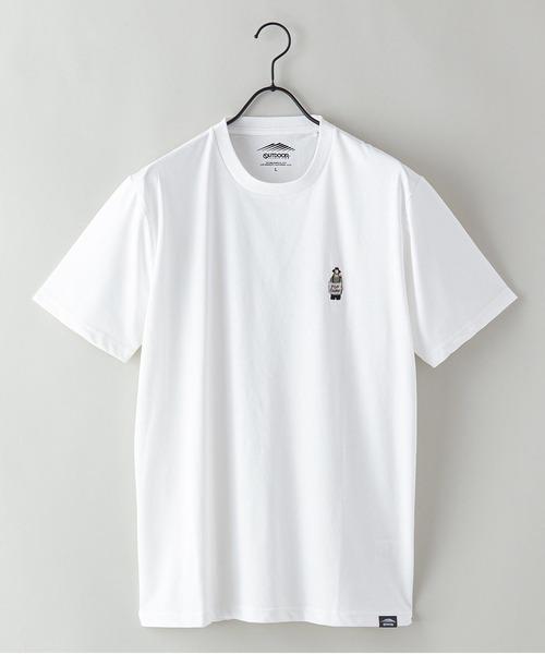 ドライ機能付き(速乾機能)CAMPモチーフワンポイント刺繍ビッグシルエットTシャツ