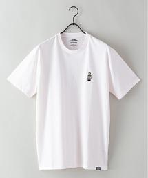 ドライ機能付き(速乾機能)CAMPモチーフワンポイント刺繍ビッグシルエットTシャツライトピンク