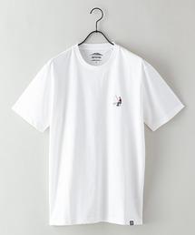 ドライ機能付き(速乾機能)CAMPモチーフワンポイント刺繍ビッグシルエットTシャツオフホワイト