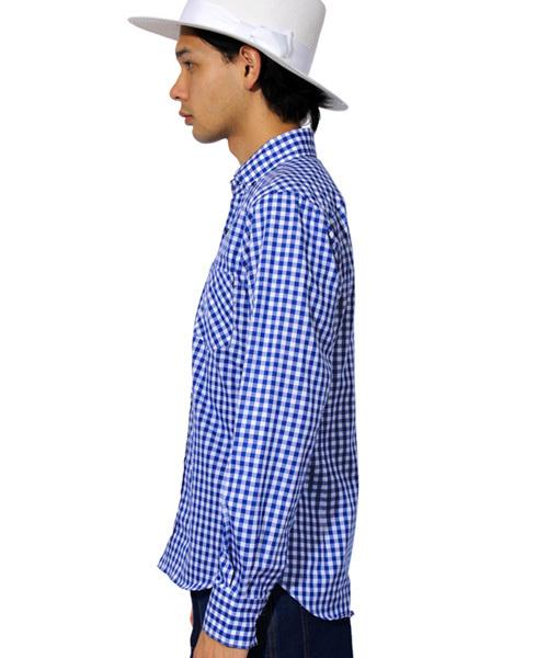 日本製 ギンガムチェック 長袖シャツ