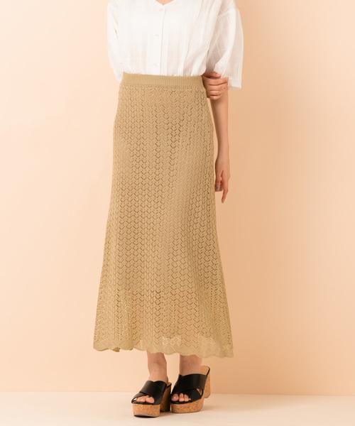 かぎ針フレアスカート