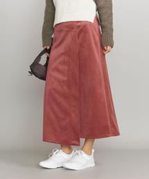 BY コーデュロイラップAラインスカート ◆