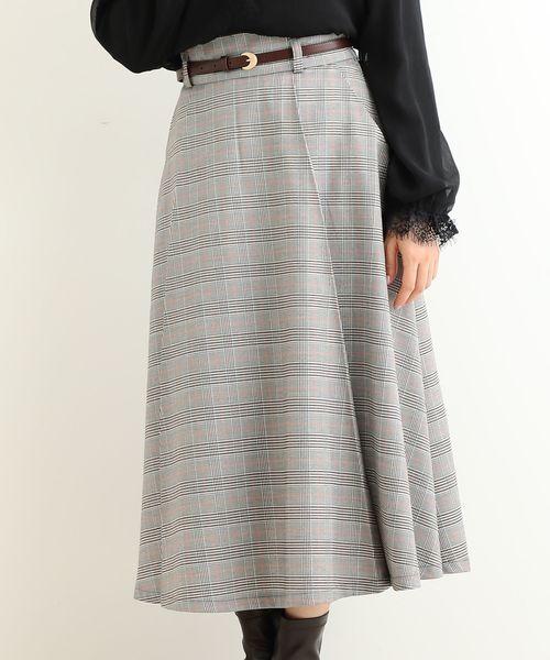 MAJESTIC LEGON(マジェスティックレゴン)の「レディフレアースカート(スカート)」|グレー