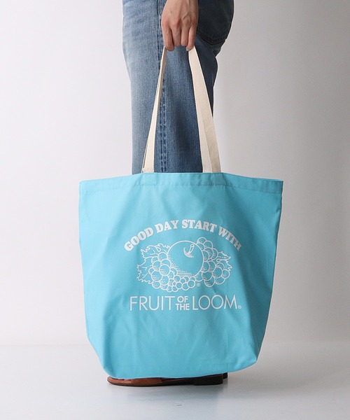 【FRUIT OF THE LOOM/フルーツオブザルーム】BRAIDED CORD TOTE BAG エコバッグ