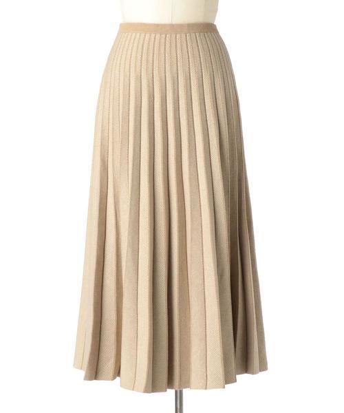 Drawer 16Gヘリンボーンプリーツニットスカート