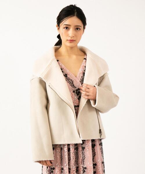 【TOCCA LAVENDER】Eco Mouton Jacket ジャケット