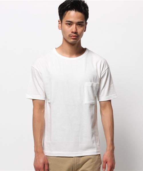 ドロップショルダー5thT/無地Tシャツ