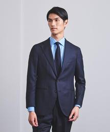 <CARUSO(カルーゾ)> ネイビー ジャガード 3B スーツ