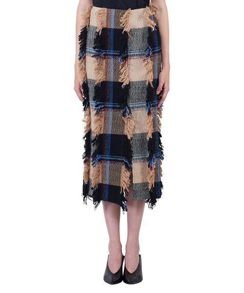 肌触りがいい MIDWESTSTAIR チェックカットロングスカート(スカート) STAIR(ステア)のファッション通販, トウベツチョウ:08737dbc --- skoda-tmn.ru