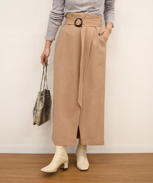 スリットラップ風スカート