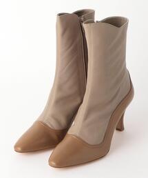 <ELIN>BICLOR SHORT BOOTS/ブーツ Ψ
