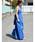 LHELBIE(レルビエ)の「バックスタイルクロスリボンサロペット(サロペット/オーバーオール)」|ブルー