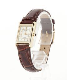 SEIKO セイコー ソーラー スクエアフェイス レザーベルト(腕時計)