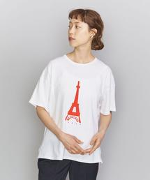 【別注】<AMERICANA(アメリカーナ)>RED プリントTシャツ