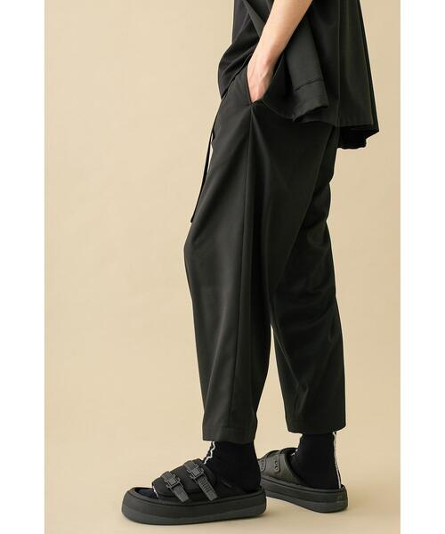 <monkey time> TR TWILL BELTED WIDE ANKLE/ワイドアンクルパンツ