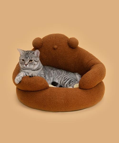 ペット用ベッド くま 猫 小型犬 インテリア