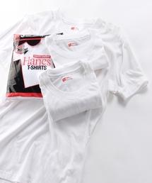 HANES(ヘインズ)の【HANES/ヘインズ】パック入りクルーネックTシャツ赤(3P)HM2135G 010/無地(Tシャツ/カットソー)