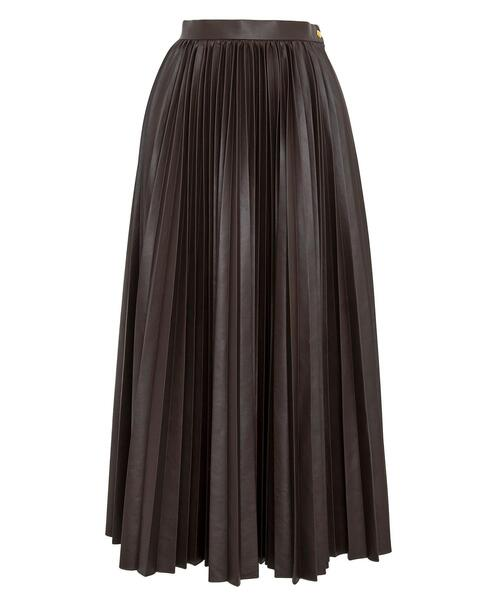 <Drawer(ドゥロワー)> ブラウンプリーツスカート