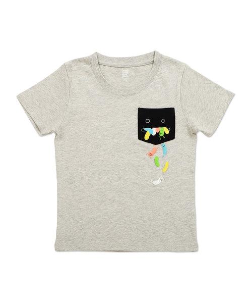 キッズポケットショートスリーブTシャツ/ビューティフルシャドージェリービーンズ