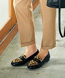 ◆SC レザーローファー(1.5cmヒール)