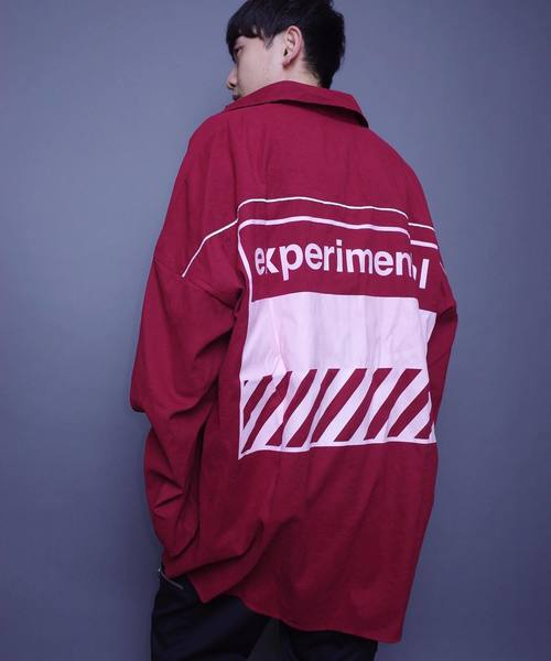 AFYF EXPERIMENTAL OVERSIZE ZIP SHIRT/エクスペリメンタル オーバーサイズジップシャツ