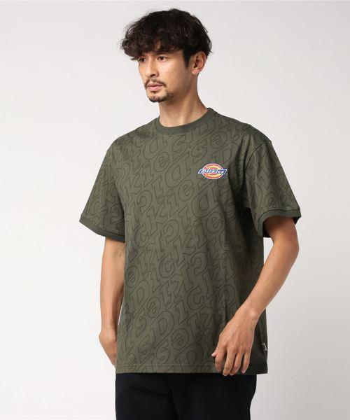 Dickies(ディッキーズ)の「【メンズ】総柄Dickiesロゴ刺繍入り半袖Tシャツ(Tシャツ/カットソー)」|グリーン系その他2