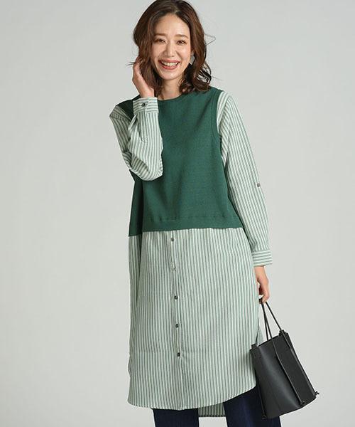 【スーパーセール】 ニットシャツコンビOP(ワンピース)|MAYSON GREY(メイソングレイ)のファッション通販, トオダグン:2134795f --- blog.buypower.ng