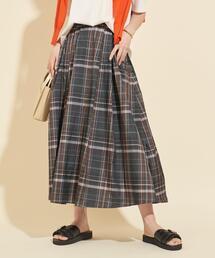 【予約】【WEB限定】by タフタチェックマキシスカート