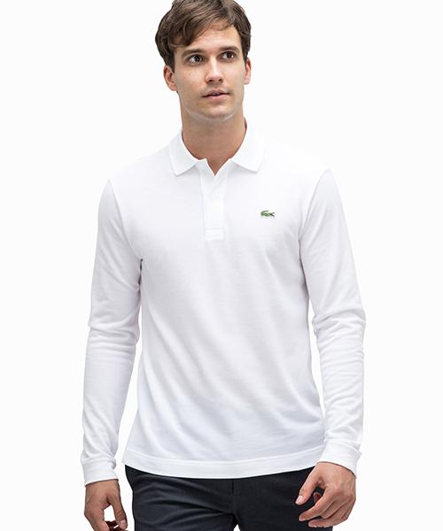 d85eaaebfd3e セール】鹿の子スリムフィットポロシャツ (長袖)(ポロシャツ)|LACOSTE ...