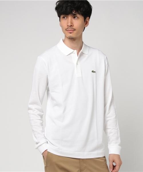 鹿の子スリムフィットポロシャツ (長袖)