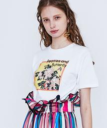 UNITED TOKYO(ユナイテッドトウキョウ)のホクサイフラワープリントTシャツ(Tシャツ/カットソー)