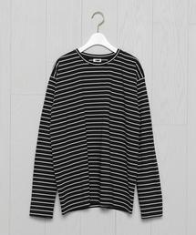 <H>BORDER LONG SLEEVE PULLOVER/カットソー