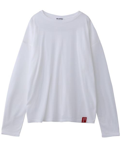 MILKFED.(ミルクフェド)の「SHEER TOP(Tシャツ/カットソー)」|ホワイト