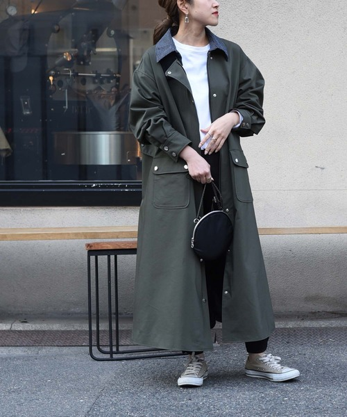 ツィード衿ミリタリーコート