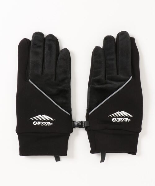 静電気軽減 発熱裏地 防風ストレッチグローブ(手袋)