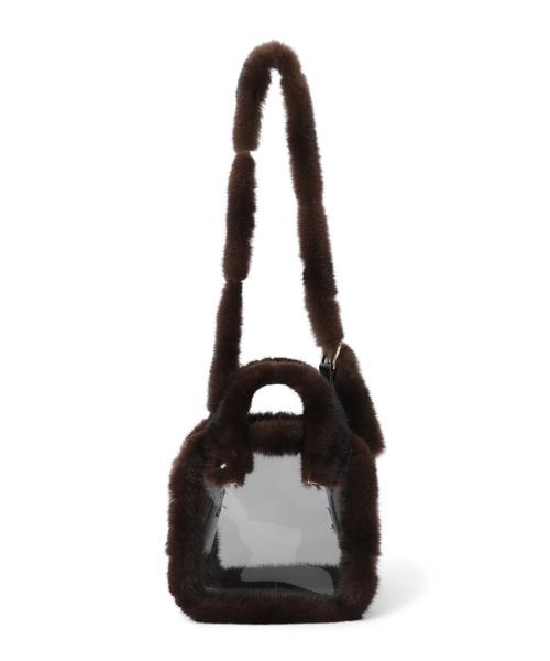 人気を誇る Mink-trimed pvc pvc shoulder bag/ bag toe(ショルダーバッグ)/|LUDLOW(ラドロー)のファッション通販, リカーショップ ヒラオカ:b785519a --- skoda-tmn.ru