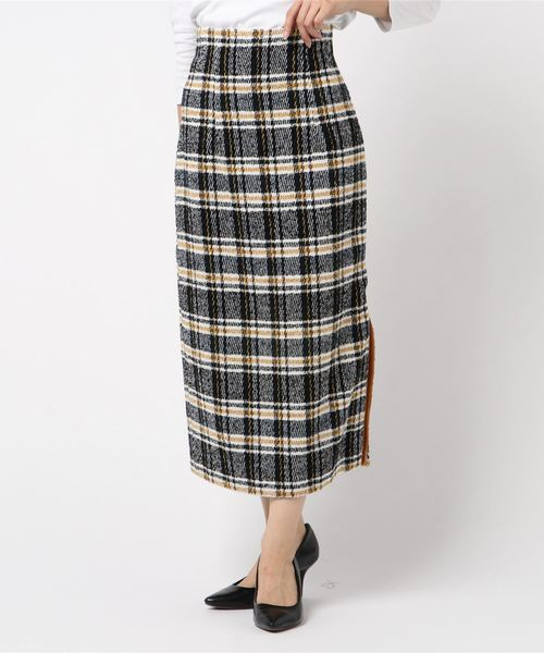 海外最新 me&meツイードチェックタイトスカート(スカート)|me&me couture(ミーアンドミークチュール)のファッション通販, 西城町:29564e57 --- fahrservice-fischer.de