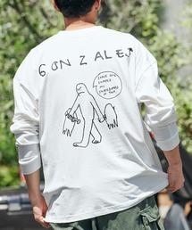 Mark Gonzales/マークゴンザレス MONO-MART別注 ビッグシルエット背面BIGプリント 長袖Teeホワイト