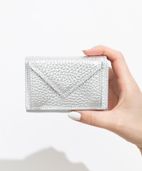 ZAKKA-BOX(ザッカボックス)の「リアルレザーペーパーミニウォレット(財布)」|シルバー