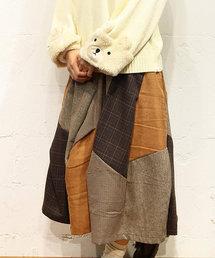 rivet & surge(リベットアンドサージ)のグレンチェック パッチワーク スカート(スカート)