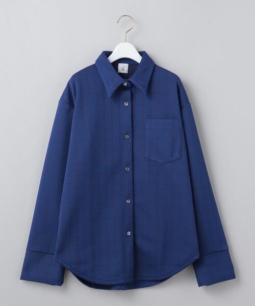 <6(ROKU)>CHECK CUTSEW SHIRT/シャツ