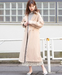 natural couture(ナチュラルクチュール)のビックカラー女優トレンチ(トレンチコート)