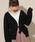 apres jour(アプレジュール)の「ケーブルトッパーカーディガン【ZOZOTOWN限定アイテム】(カーディガン)」|ブラック