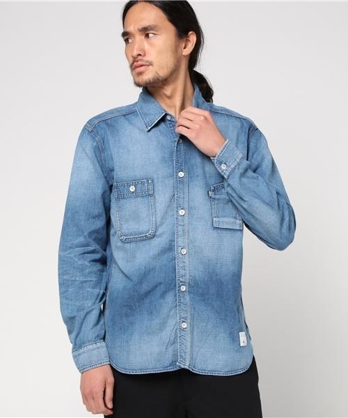 【オープニングセール】 DUNGAREE SHIRT BLUE USED(シャツ/ブラウス) STUDIOS SHIRT BLUE SAKURA(ブルーサクラ)のファッション通販, オウメシ:ed255bc8 --- pyme.pe