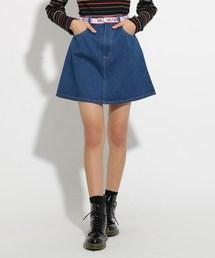 PINK-latte(ピンク ラテ)のベルト風台形 スカート(スカート)