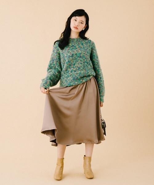 印象のデザイン イタリア糸ループヤーンプルオーバー(ニット Brown,リリー/セーター) Lily|Lily Brown(リリーブラウン)のファッション通販, 有明町:42728f26 --- steuergraefe.de