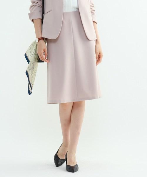 [L]【マシンウォッシュ/UV】ハイストレッチフレアスカート