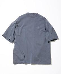 "NAUTICA/ノーティカ High Neck ""TOO HEAVY"" S/S Jersey Tee(P.D)/ハイネック トゥーヘヴィー 半袖Tシャツ ピグメントダイ"