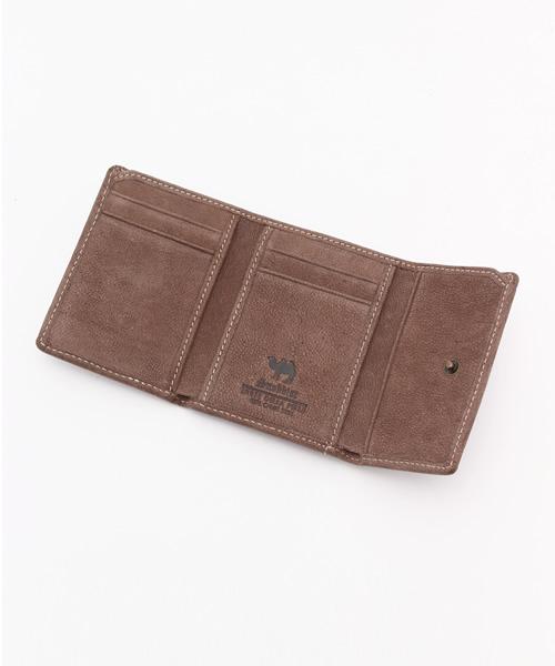 駱駝革三つ折り財布