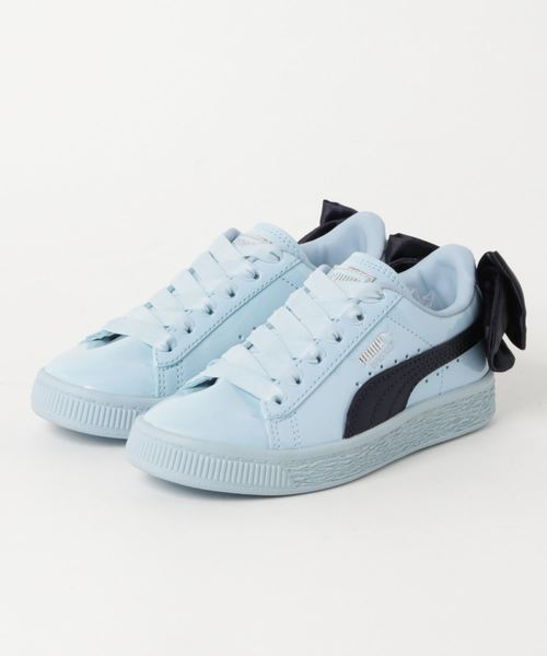 puma patent bow trainers